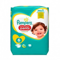 Pampers - Pack 16 Couches Premium Protection Pants taille 6 sur Couches Poupon