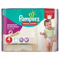 Pampers - Mega pack 160 Couches Active Fit Pants taille 4 sur Couches Poupon