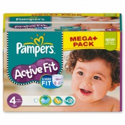 Pampers - Pack jumeaux 640 Couches Active Fit Pants taille 4 sur Couches Poupon