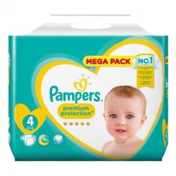 Pampers - Pack 41 Couches Premium Protection taille 4 sur Couches Poupon