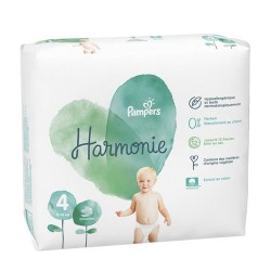 Pampers - Pack 19 Couches Harmonie taille 4 sur Couches Poupon