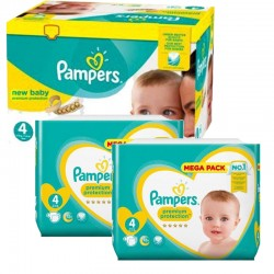 Pampers - Pack 82 Couches Premium Protection taille 4 sur Couches Poupon
