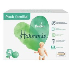 Pampers - Pack 76 Couches Harmonie taille 4 sur Couches Poupon