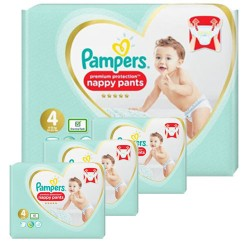 Pampers - Pack 94 Couches Premium Protection Pants taille 4 sur Couches Poupon