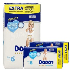 Dodot - Maxi giga pack 390 Couches 0 taille 6 sur Couches Poupon