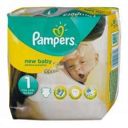 Pampers - Pack 22 Couches Premium Protection taille 1 sur Couches Poupon