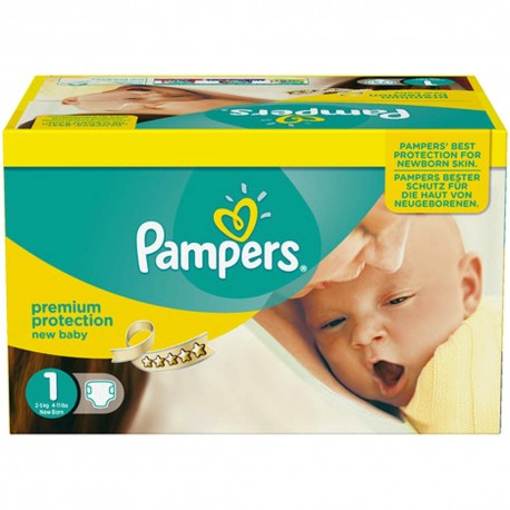 Pampers - Giga pack 264 Couches Premium Protection taille 1 sur Couches Poupon