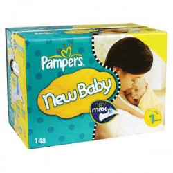 Pampers - Maxi giga pack 352 Couches Premium Protection taille 1 sur Couches Poupon