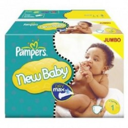 Pampers - Maxi giga pack 374 Couches Premium Protection taille 1 sur Couches Poupon