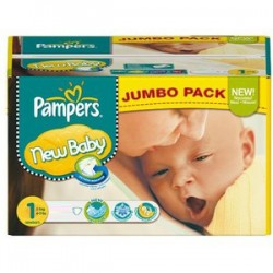 Pampers - Maxi mega pack 484 Couches Premium Protection taille 1 sur Couches Poupon