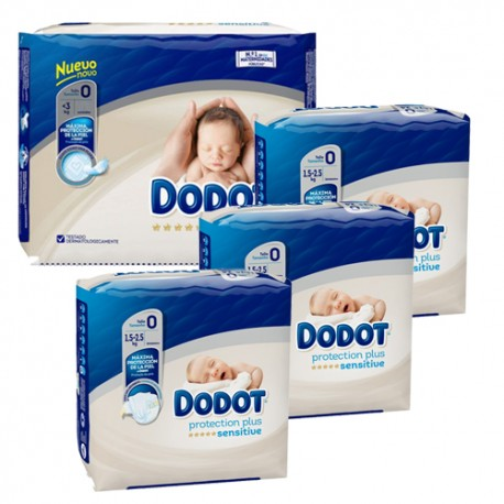 Dodot - Pack 48 Couches 0 taille 0 sur Couches Poupon