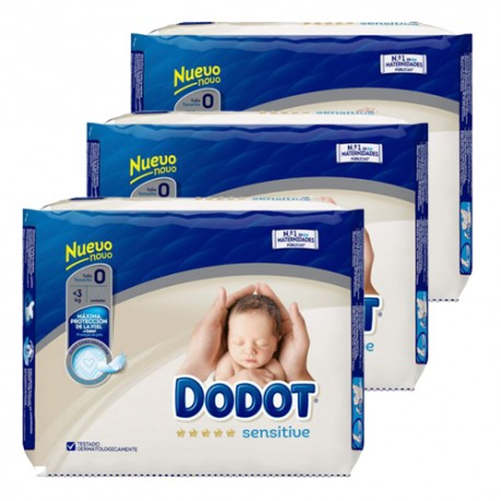 Dodot - Mega pack 144 Couches 0 taille 0 sur Couches Poupon