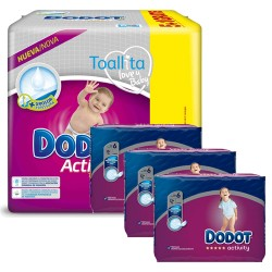 Dodot - Pack 78 Couches Activity taille 6 sur Couches Poupon