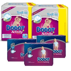Dodot - Giga pack 234 Couches Activity taille 6 sur Couches Poupon