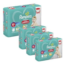 Pampers - Giga pack 246 Couches Baby Dry Pants taille 4+ sur Couches Poupon
