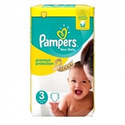 Pampers - Pack 29 Couches Premium Protection taille 3 sur Couches Poupon