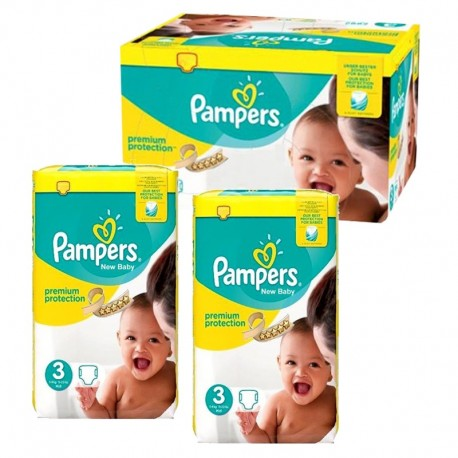 Pampers - Mega pack 145 Couches Premium Protection taille 3 sur Couches Poupon