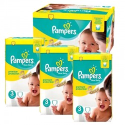 Pampers - Mega pack 174 Couches Premium Protection taille 3