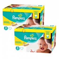 Pampers - Giga pack 261 Couches Premium Protection taille 3