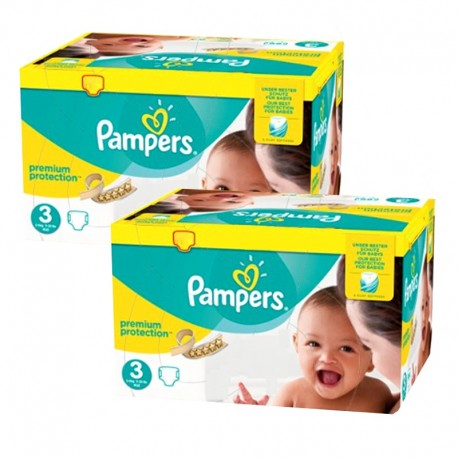 Pampers - Giga pack 261 Couches Premium Protection taille 3 sur Couches Poupon