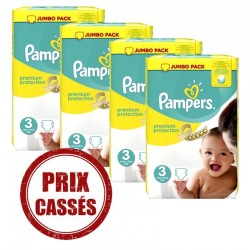 Pampers - Giga pack 290 Couches Premium Protection taille 3
