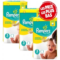 Pampers - Pack jumeaux 522 Couches Premium Protection taille 3