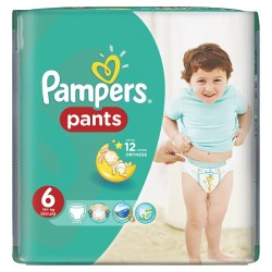 Pampers - Pack 72 Couches Baby Dry Pants taille 6 sur Couches Poupon