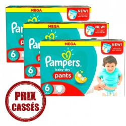 Pampers - Giga pack 216 Couches Baby Dry Pants taille 6 sur Couches Poupon