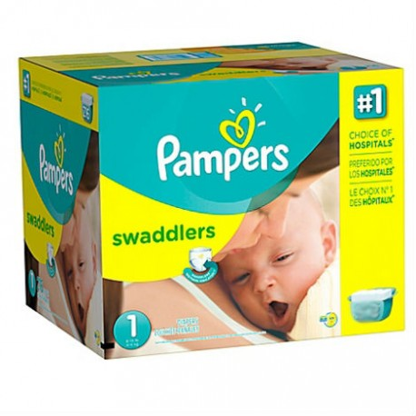 Pampers - Pack jumeaux 560 Couches Premium Protection taille 1 sur Couches Poupon