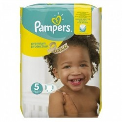 Pampers - Pack 68 Couches Premium Protection taille 5 sur Couches Poupon