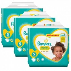 Pampers - Giga pack 204 Couches Premium Protection taille 5 sur Couches Poupon