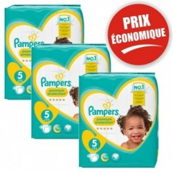 Pampers - Maxi mega pack 408 Couches Premium Protection taille 5 sur Couches Poupon