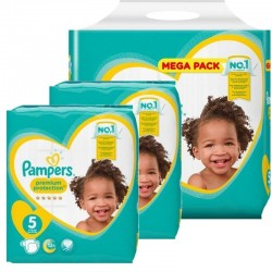 Pampers - Pack jumeaux 544 Couches Premium Protection taille 5 sur Couches Poupon