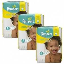 Pampers - Pack jumeaux 748 Couches Premium Protection taille 5 sur Couches Poupon