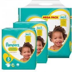 Pampers - Pack jumeaux 816 Couches Premium Protection taille 5 sur Couches Poupon
