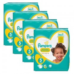 Pampers - Maxi giga pack 340 Couches Premium Protection taille 5 sur Couches Poupon
