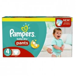 Pampers - Mega pack 124 Couches Baby Dry Pants taille 4 sur Couches Poupon
