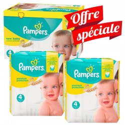 Pampers - Giga pack 216 Couches Premium Protection taille 4 sur Couches Poupon