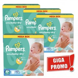 Pampers - Pack jumeaux 638 Couches Active Baby Dry taille 4+ sur Couches Poupon
