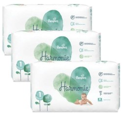 Pampers - Giga pack 204 Couches Harmonie taille 1 sur Couches Poupon