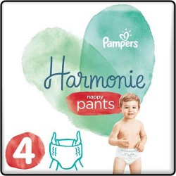 Pampers - Pack 58 Couches Harmonie Pants taille 4 sur Couches Poupon