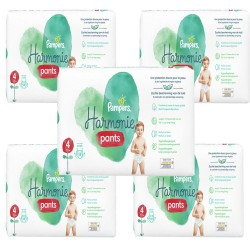 Pampers - Mega pack 116 Couches Harmonie Pants taille 4 sur Couches Poupon