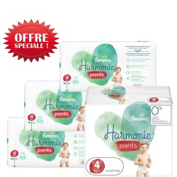 Pampers - Mega pack 174 Couches Harmonie Pants taille 4 sur Couches Poupon