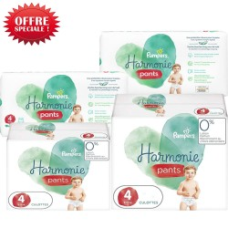 Pampers - Giga pack 290 Couches Harmonie Pants taille 4 sur Couches Poupon