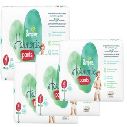 Pampers - Maxi mega pack 406 Couches Harmonie Pants taille 4 sur Couches Poupon