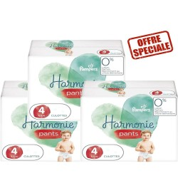 Pampers - Pack jumeaux 522 Couches Harmonie Pants taille 4 sur Couches Poupon
