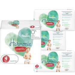 Pampers - Pack jumeaux 580 Couches Harmonie Pants taille 4 sur Couches Poupon