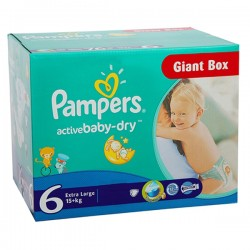 Giga Pack 144 couches Pampers Active Baby Dry sur Couches Poupon