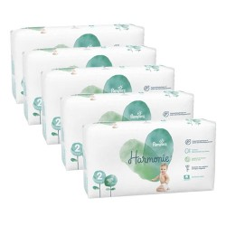 Pampers - Pack jumeaux 624 Couches Harmonie taille 2 sur Couches Poupon
