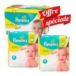 Pampers - Maxi giga pack 336 Couches Premium Protection taille 4 sur Couches Poupon